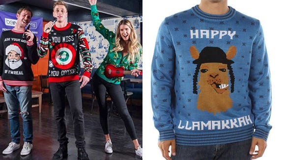 You know you want one of these wacky sweaters.