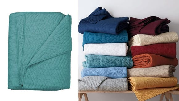 This cute quilt comes in a variety of colors.