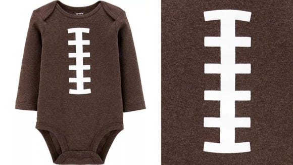 Pass the pigskin! Oh no wait, that's a baby.