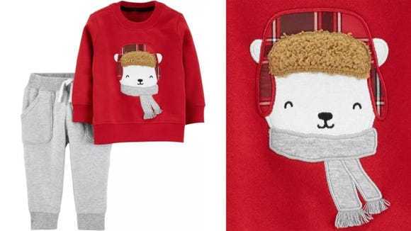 Keep your baby as cozy as this polar bear in a scarf.