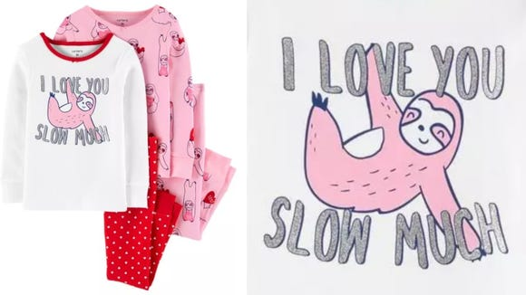 These PJs are perfect for Valentine's Day.