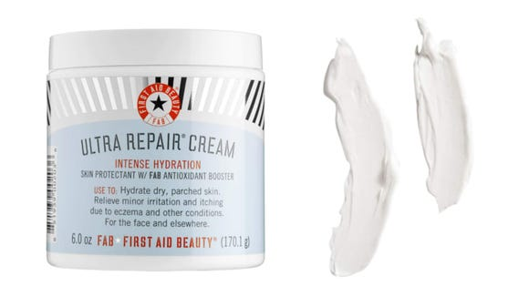 Apply the First Aid Beauty Ultra Repair Cream Intense Hydration routinely for moisturized skin.