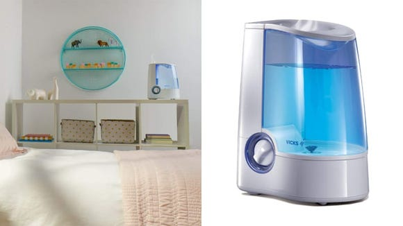 Avoid dry air with a humidifier, like the Vicks V745A.