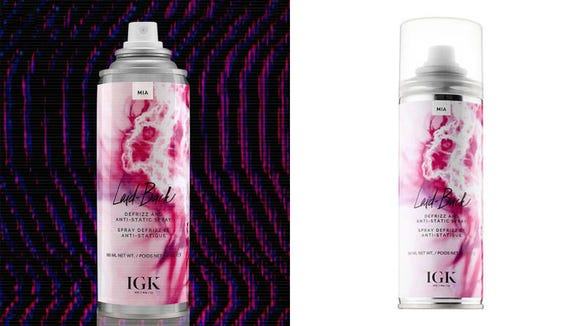 De-frizz your hair with the IGK Laid Back spray.