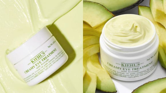 Use the Kiehl's Creamy Eye Treatment with Avocado to moisturize the delicate eye area.