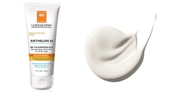 The La Roche-Posay Anthelios Melt-In Sunscreen Milk SPF 60 is a thick cream that melts into the skin.