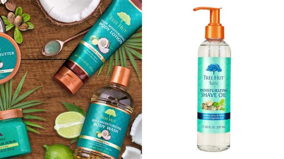 Avoid nicks and razor burn while also moisturizing your skin with the Tree Hut Bare Moisturizing Shave Oil.