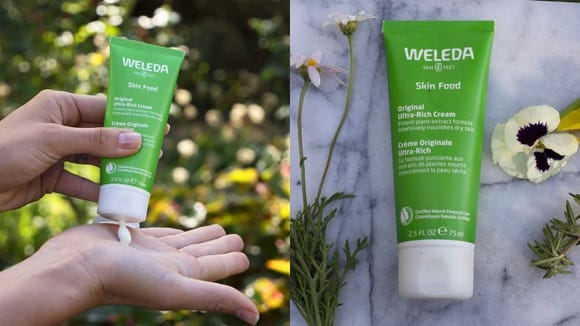 The Weleda Skin Food moisturizes and protects your skin with a thick formula.