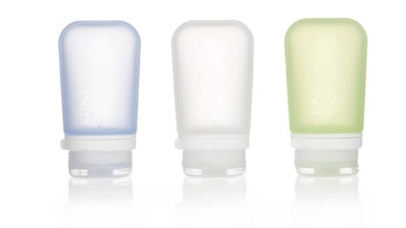 These squeeze bottles are perfect for toiletries.