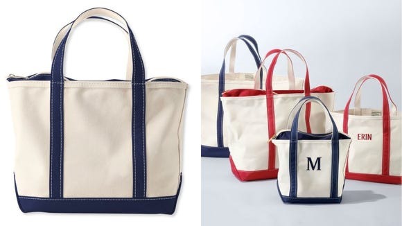 This roomy tote is great for errand runs.
