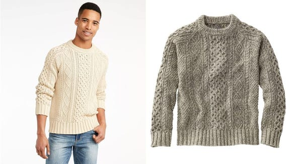 This Irish-inspired sweater is a timeless addition to any wardrobe.