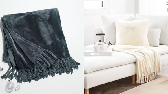 Pair this throw with like colors for a modern look.