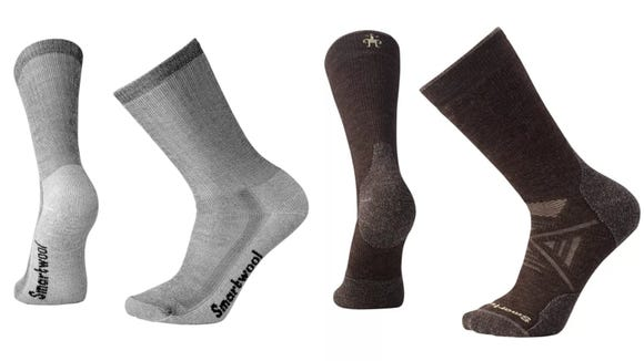 These wool socks are warm and breathable.