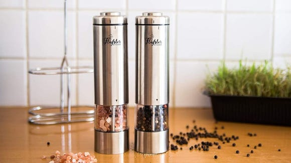 Best products for lazy people: Flafster Electric Salt and Pepper Grinders.
