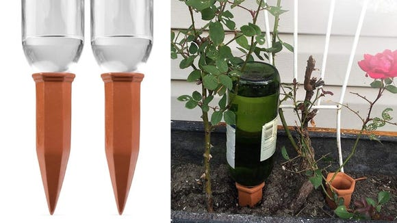 Best products for lazy people: Plant Watering Stakes.