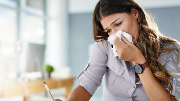 Cover your cough or sneeze with a tissue.