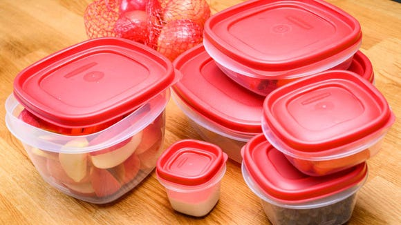 Seal your food in tight with food storage containers.