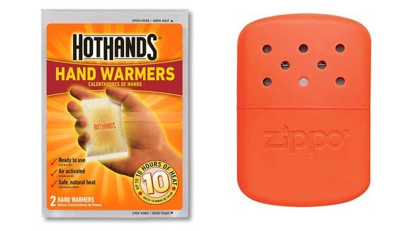 Tired of stiff, cold fingers? Supplement your gloves with hand warmers.