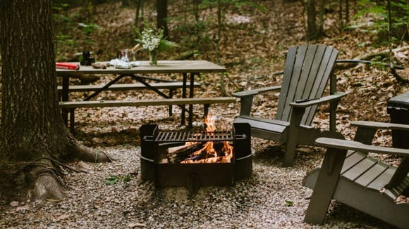 There's a fire pit to cook over or to just enjoy the warmth of the flames.