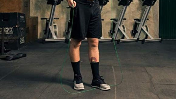 The speed rope from WOD Nation swings freely so it won't slow you down.