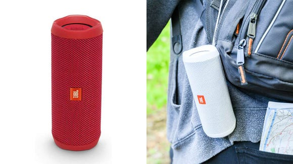 You can listen to your favorite tunes anywhere with the JBL Flip 4.