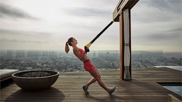 The TRX Go lets you use your body weight as resistance.