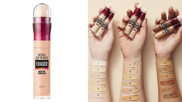 Conceal and brighten with the Maybelline Instant Age Rewind Concealer.