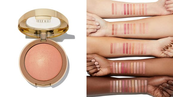 For a flush of color to the cheeks, try the Milani Baked Blush.