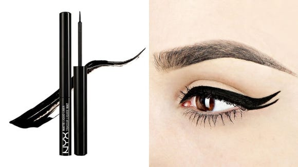Add drama to your eye look with the NYX Professional Makeup Matte Liquid Eyeliner.