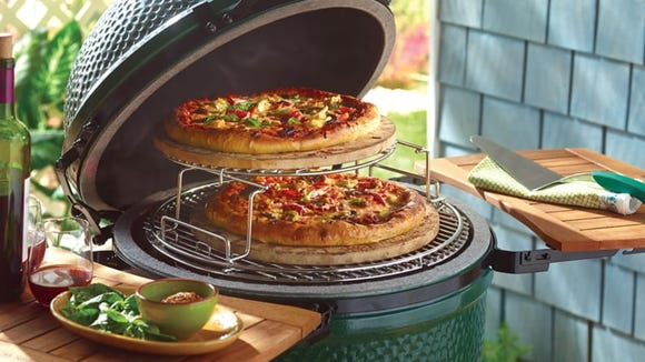 Grill enthusiasts love kamado grills, and they're great for pizzas.