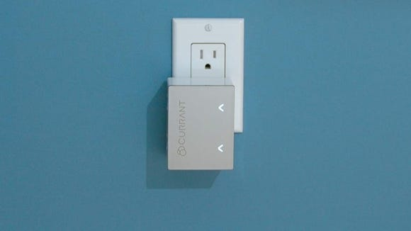 Currant's Smart Outlet can control and monitor two devices independently.