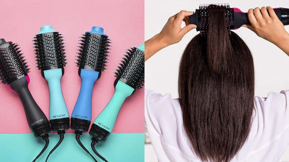 The Revlon One-Step Hair Dryer & Volumizer Hot Air Brush promises a super-sleek blowout.