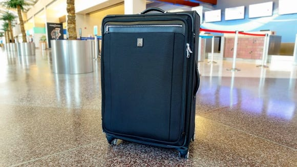 "Use the Travelpro Platinum Magna 2 29"" Expandable Spinner Suiter to pack for longer trips."