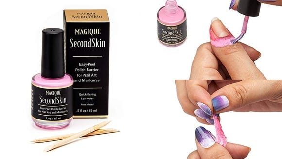 Give yourself a professional-looking manicure when you use the Magique Nail Art Liquid Latex Barrier to clean up mistakes.