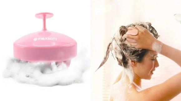 For a thorough shampoo, use the Maxsoft Hair Scalp Massager.