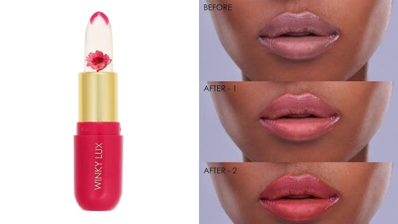 The Winky Lux Flower Balm gives you your perfect shade of pink lipstick.