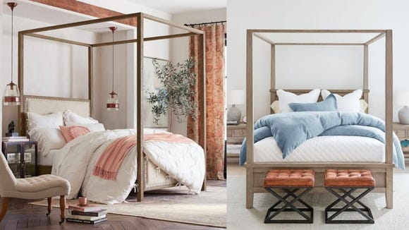 Canopy beds are the latest bedroom trend.