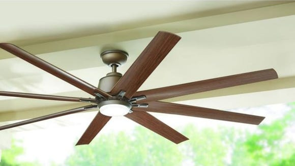 Upgrade your ceiling fan with this highly-rated one.