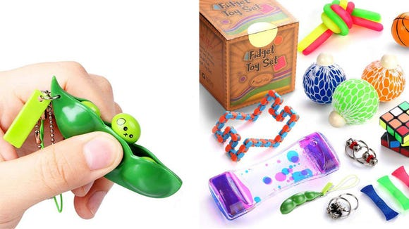 Keep your restless hands busy with the Small Fish Sensory Fidget Toys Set.
