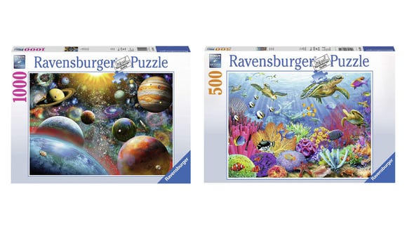 Work on a jigsaw puzzle from Ravensburger any time you need to relax.