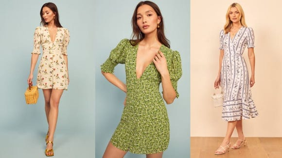 Floral dresses are summertime staples.