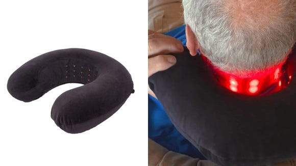 If you've got a stiff neck, this pillow is for you.