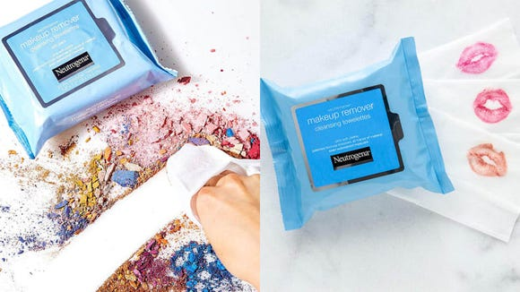 Wash away all makeup with the Neutrogena Makeup Remover Cleansing Towelettes.