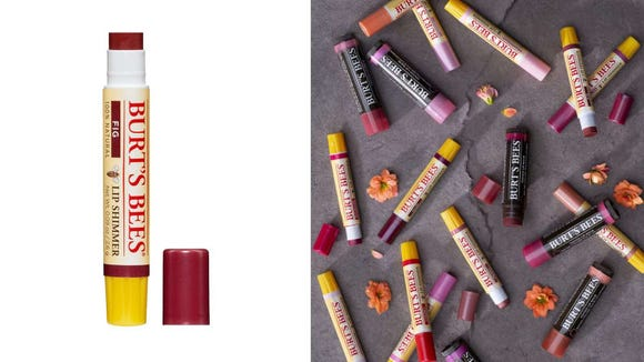 Add a pop of color to your lips with the Burts Bee's Lip Shimmer.