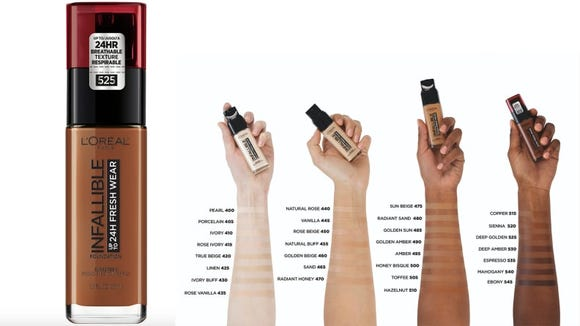 Customize your foundation coverage with the L'Oréal Infallible Fresh Wear 24HR Foundation.