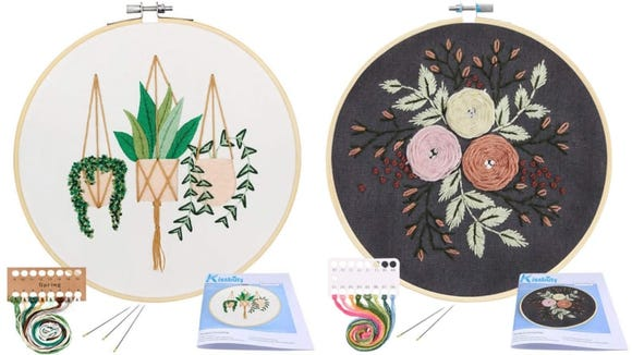 Needlepoint is a great beginner's craft.