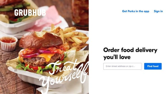 Although GrubHub requires a subscription, you do get free unlimited delivery.