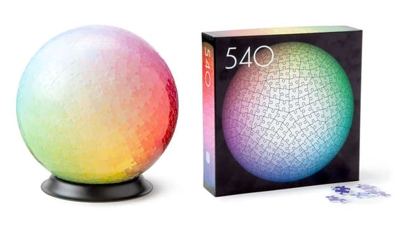 Want a fun activity for mom? Snag the 540 Colors 3D Puzzle from Uncommon Goods.