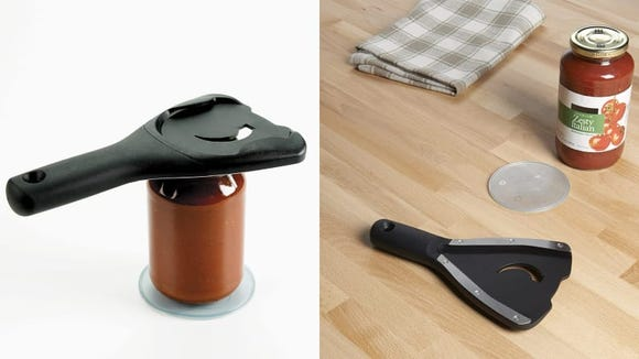 Get out of your pickle jar-opening pickle with this device.