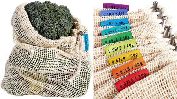 These reusable produce bags come in three convenient sizes.